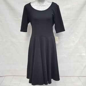 Lularoe Solid Black Nicole Dress ~ Fit n Flare